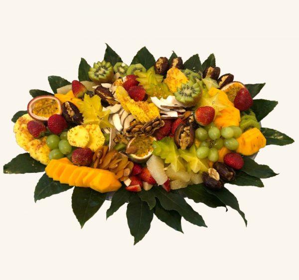 מגש פירות יופי קסום אובלי גדול
