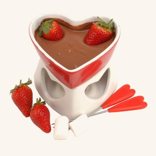 פונדו שוקולד לב
